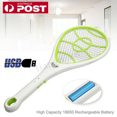 Bug Zapper Electric Tennis Racket Mosquito Fly Swatter Killer Insect Handheld AU