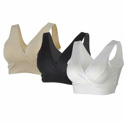 3 Packs Women's Maternity Non-Wired Nursing Bras for Sleep and Breastfeeding AU