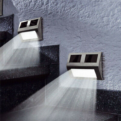SUPER BRIGHT SOLAR POWERED DOOR FENCE WALL LIGHTS LED OUTDOOR GARDEN LIGHTING uk