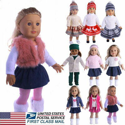 USA Doll Clothes Dress Outfits Pajames For 18 inch American Girl Our Generation