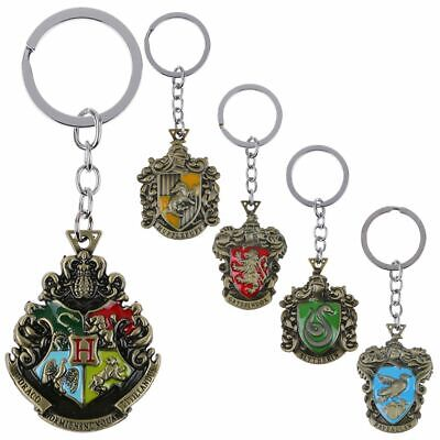 Harry Potter Deathly Hallows/Hogwarts/Gryffindor Metal Pendant Keychains Keyring
