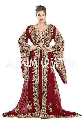 Kurdish Wedding Gown Haute Coutre Designer Abaya Ladies Robe Khaleeji Thobe 5546