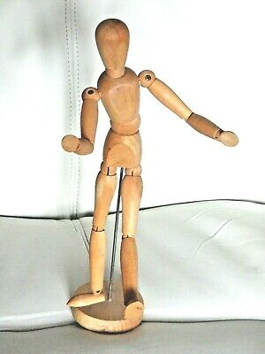 Fully Flexible Artists Wooden Human Dummy Mannequin