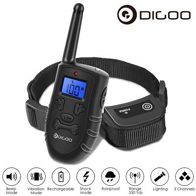 Digoo Electric Shock Anti-Bark E-Collar Dog Stop Barking Training Control