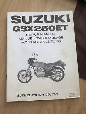 Original factory Set-up Manual Suzuki GSX250ET  Jan 1980