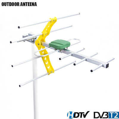 HDTV 1080p Outdoor Amplified Digital Antenna UHF VHF FM Long Range HD TV 15dB S