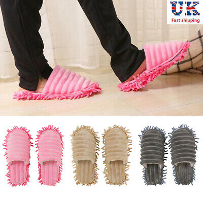 A pair of Mop Slippers Lazy Floor Foot Socks Shoes Quick Polishing Cleaning Dust