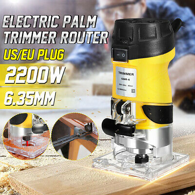 2200W Electric Hand Trimmer Palm Router Laminate Trimmer Wood Working Joiners