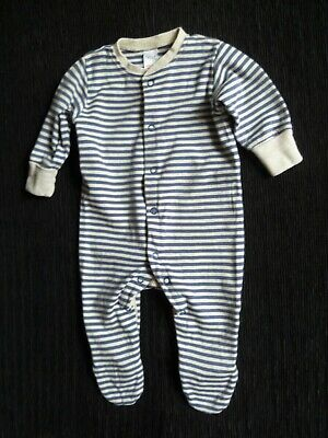 Baby clothes BOY 0-3m NEXT navy/beige striped babygrow SEE SHOP! COMPINE POST!