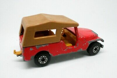 Matchbox No 53 CJ6 Jeep 1977 Red 1:64 Lesney