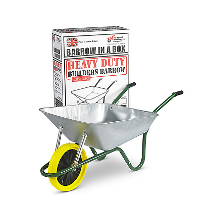 Walsall Wheelbarrows 85 Ltr Galvanized Wheelbarrow in a Box - Puncture Proof