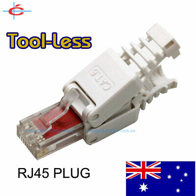 3 Pieces RJ45 CAT6 Network Plug Without Tools ToolLess NBN / LAN Connector