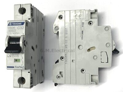 Terasaki 32 Type C 32A Mcb Circuit Breaker Single Pole / Phase Ds06 C32