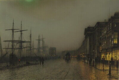 John Atkinson Grimshaw Glasgow Giclee Canvas Print Paintings Poster Reproduction