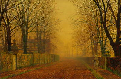 John Atkinson Grimshaw  Evening Glow Giclee Canvas Print Paintings Poster