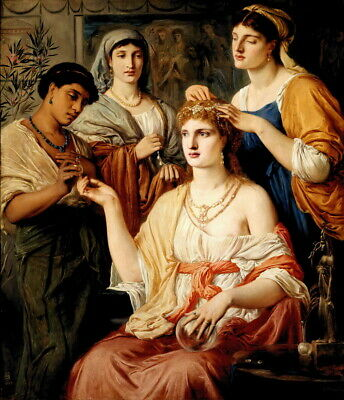 Simeon Solomon Toilet of a Roman Lady Giclee Canvas Print Paintings Poster