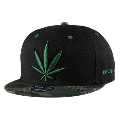 081c0b79167 Women Men Baseball Cap Snapback Hip Hop Hat Weed Leaf Marijuana Adjustable  US