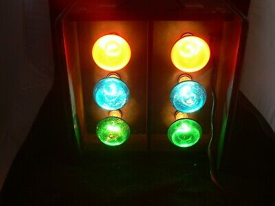 Retro Vintage TRAFFIC LIGHT Disco Light Boxes For Use With Bulgin Controller