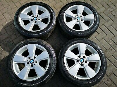 """Genuine BMW Style 143 Alloy Wheel Set and Tyres 8j 18"""" Fits X3 E83 3411524"""