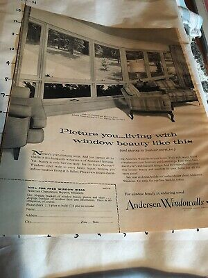 1963 Vintage AD ANDERSEN WINDOWALLS Home Decor B1