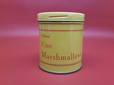 Rare Vintage Antique Adams Fine Marshmallow Tin Gag Novelty Toy Snake in Can