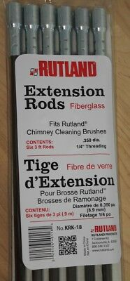 Imperial BR0305 Flexible Lot of 5 6 Chimney Cleaning Brush Extension Rod Poles