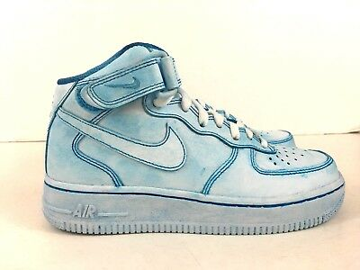 cheap for discount d3e7b 29a8a NIKE AIR FORCE 1 Blue Women's Sneakers Size 6