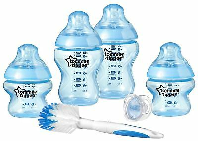 Tommee Tippee CLOSER TO NATURE BOTTLE STARTER KIT SKY Baby Feeding BNIP