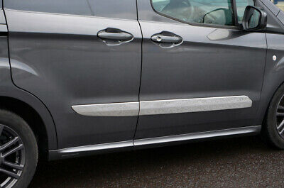 Chrome Side Door Streamer Trim Set Covers To Fit Ford Transit Courier (2014+)