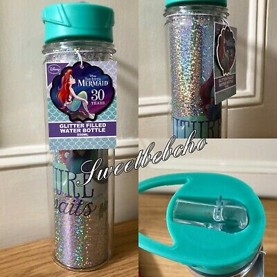 Disney The Little Mermaid 30th Anniversary Glitter Filled XL Water Bottle