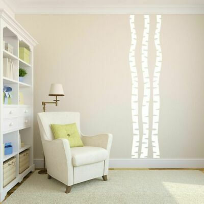 Birch Trees Wall Decal Set - Trees and Branches Woodland Wall Art Accents Decals