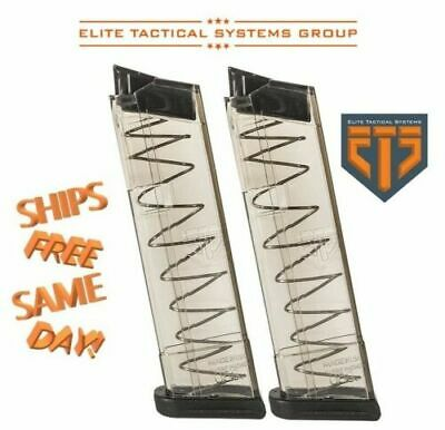 TWO ETS Elite Tactical Systems 10-Round Mag for Glock 26 9MM Luger