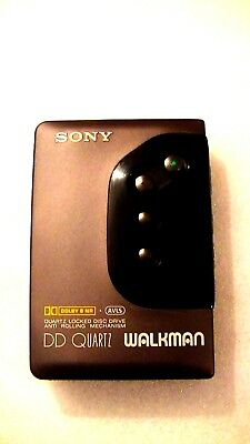 Vintage Sony Walkman Dd Personal Cassette Player Wm-Dd22