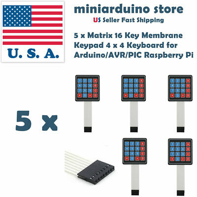 5PCS 4X4 16 Key Keypad Membrane Switch Matrix Array module Arduino  Raspberry Pi