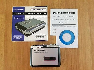 Tape to PC USB Cassette-to-MP3 Converter Adapter Audio Music Player walkman