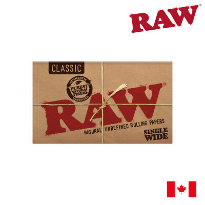 RAW Classic Single Wide Natural Unrefined Rolling Papers (Double Window) 1 Pack