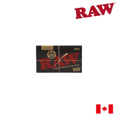 RAW Classic Black Single Wide Rolling Papers (Double Window) 1 Pack
