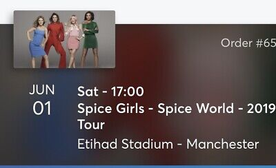 2 x Seated Spice Girls Tickets. Manchester Etihad On Sat 1st June