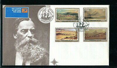 1975 South Africa RSA FDC. Thomas Baines Painter. First Day Cover Ship, Mountain
