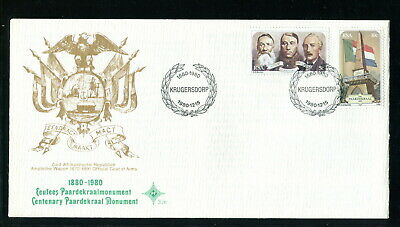 1980 South Africa RSA FDC. Paardekraal. Boer Triumvirate Government