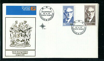 1975 South Africa RSA FDC. President Diedrichs. First Day Cover