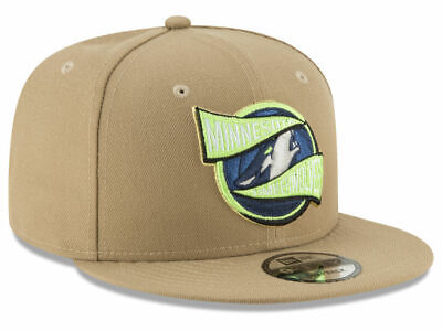 the best attitude e8c07 412f3 Nwt New Era Lime Khaki Minnesota Timberwolves Team Banner Snapback Hat  9Fifty