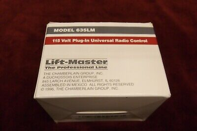 NEW Craftsman LiftMaster 635LM Radio Plug In Receiver Garage Door Opener Remote