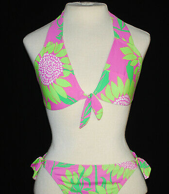 f9ae01ce1557b Lilly Pulitzer Bikini - Hibiscus Pink Soleil / Pink with Green - Size 2