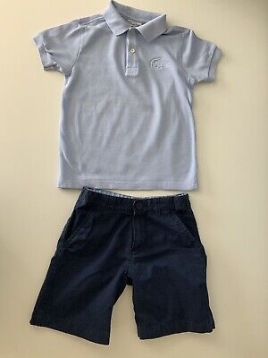 Lacoste Boys Outfit, Set, Size Age 6 Years, Polo T Shirt & Shorts, Vgc