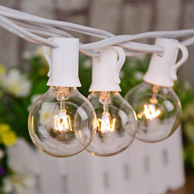 Goothy Globe String Lights 100Ft with G40 100 Clear Bulbs Outdoor Garden Party -