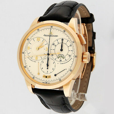 Jaeger LeCoultre 18K Yellow Gold Duometre A Chronograph Q6011420 600.0.28.S 42mm