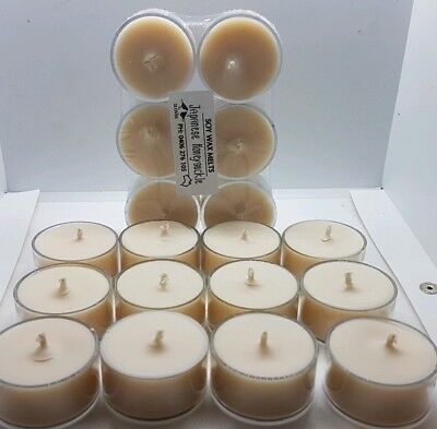 Soy Tea Light Candles X18, Max Fragrance, Choose Your Scents, Free Post