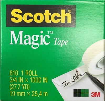 "Scotch Magic Tape  3/4"" x 1000"", 1"" Core Clear ~6 rolls NIB"