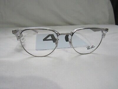 7c1f15d7f2a New Ray Ban Rb6396 2936 Clear silver Rx Eyeglass Frames Nwt Authentic